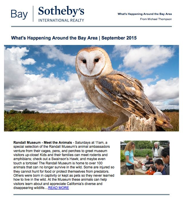 What's Happening Around the Bay Area | September 2015 Courtesy of Michael Thompson, Realtor