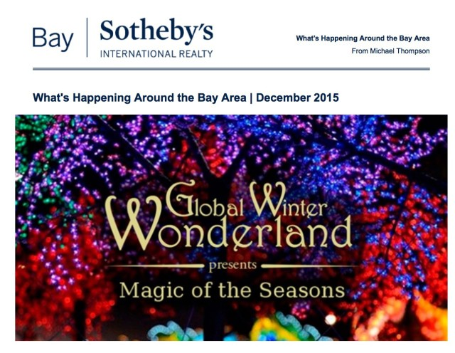 December 2015 SF Bay Area Events courtesy of Michael Thompson, Realtor